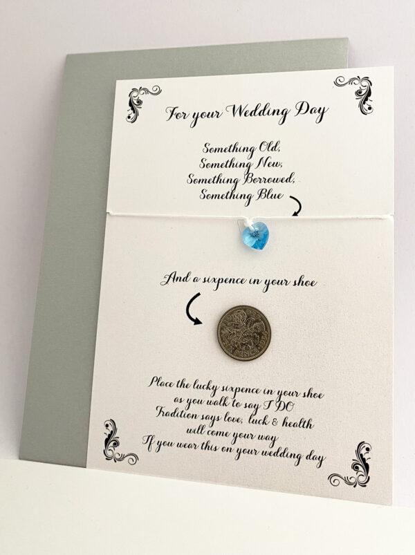 Lucky sixpence voor de bruid