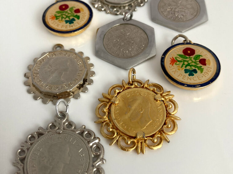 vintage sixpence hangers