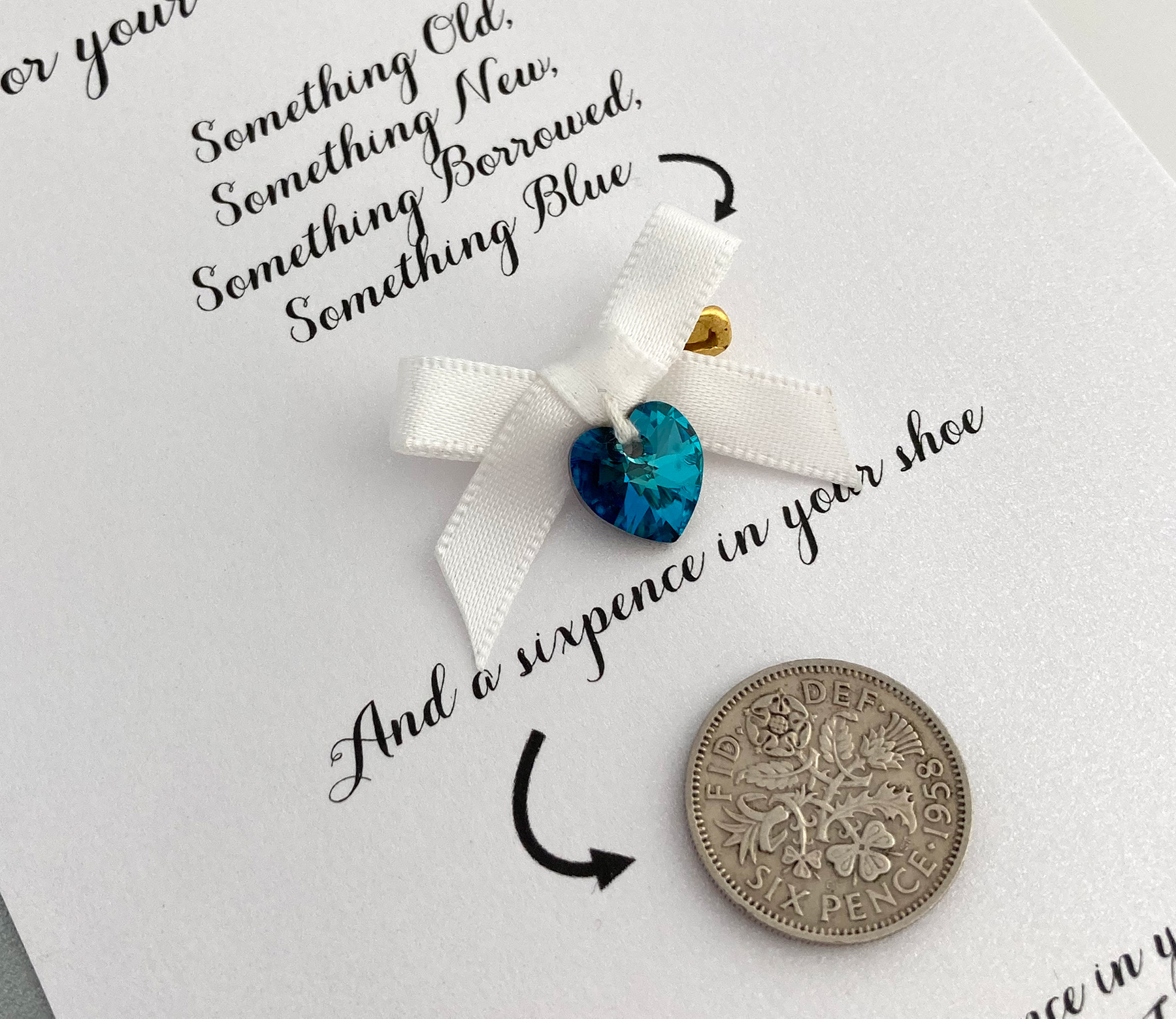 kaart met cadeautje voor de bruid