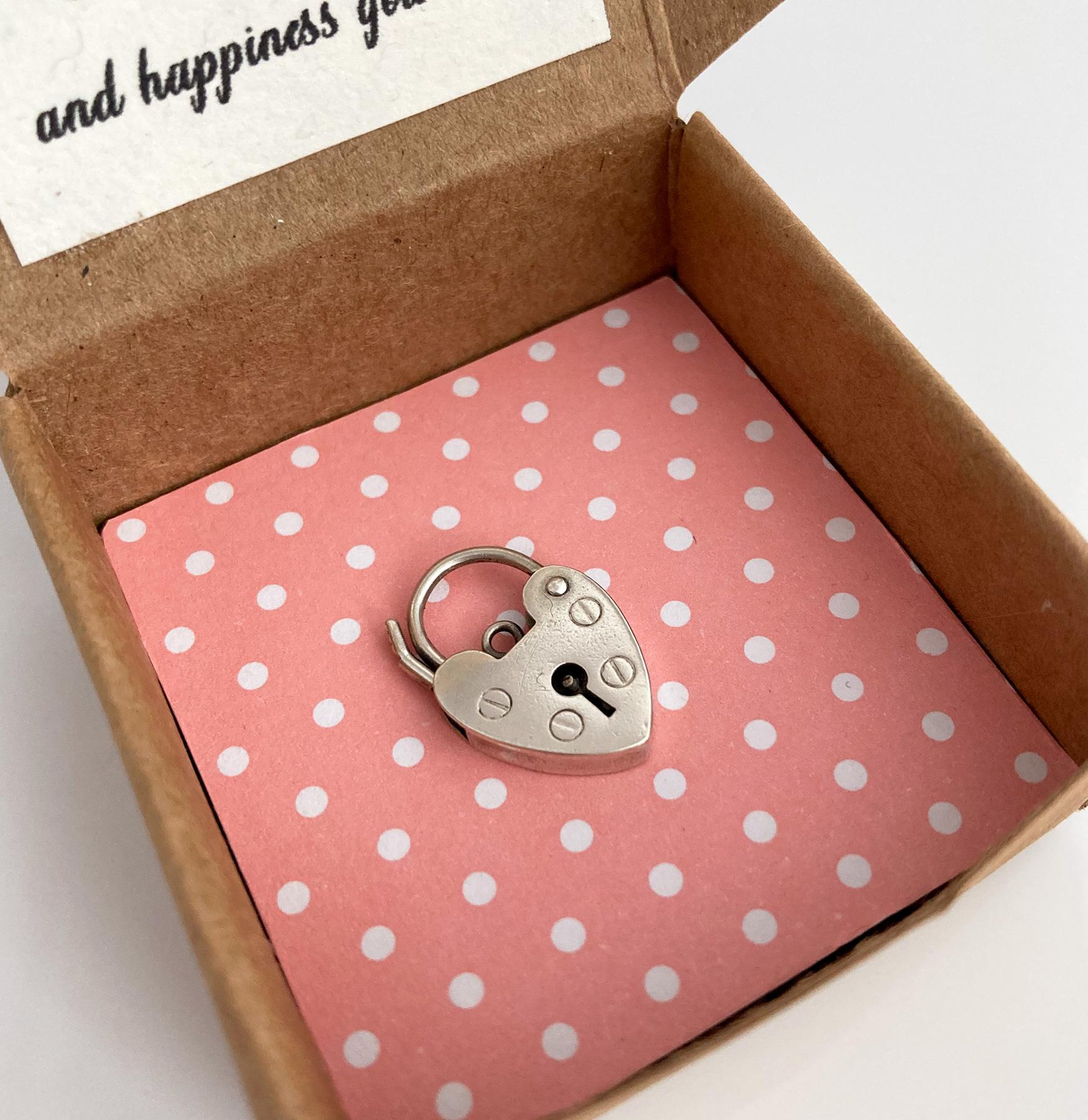 vintage silver heart shaped padlock