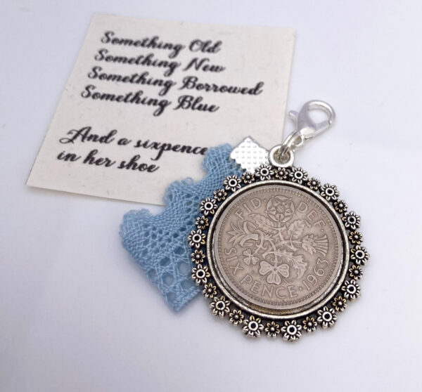 something old, new, blue and a sixpence