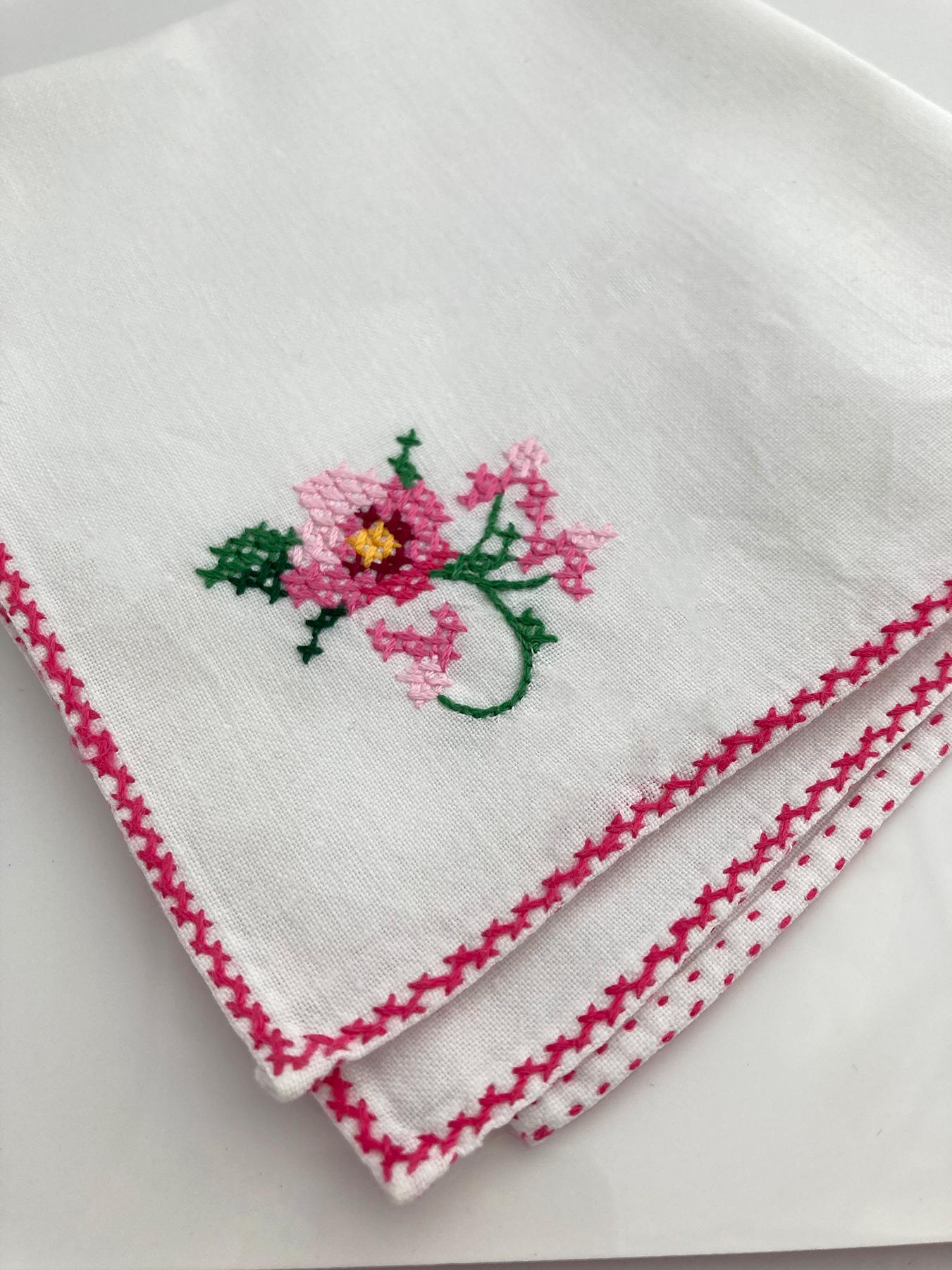 handgemaakt zakdoekje voor de bruid
