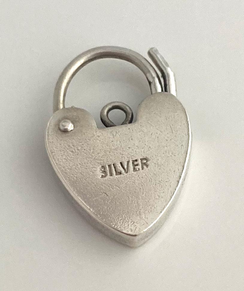 vintage zilveren hart slotje