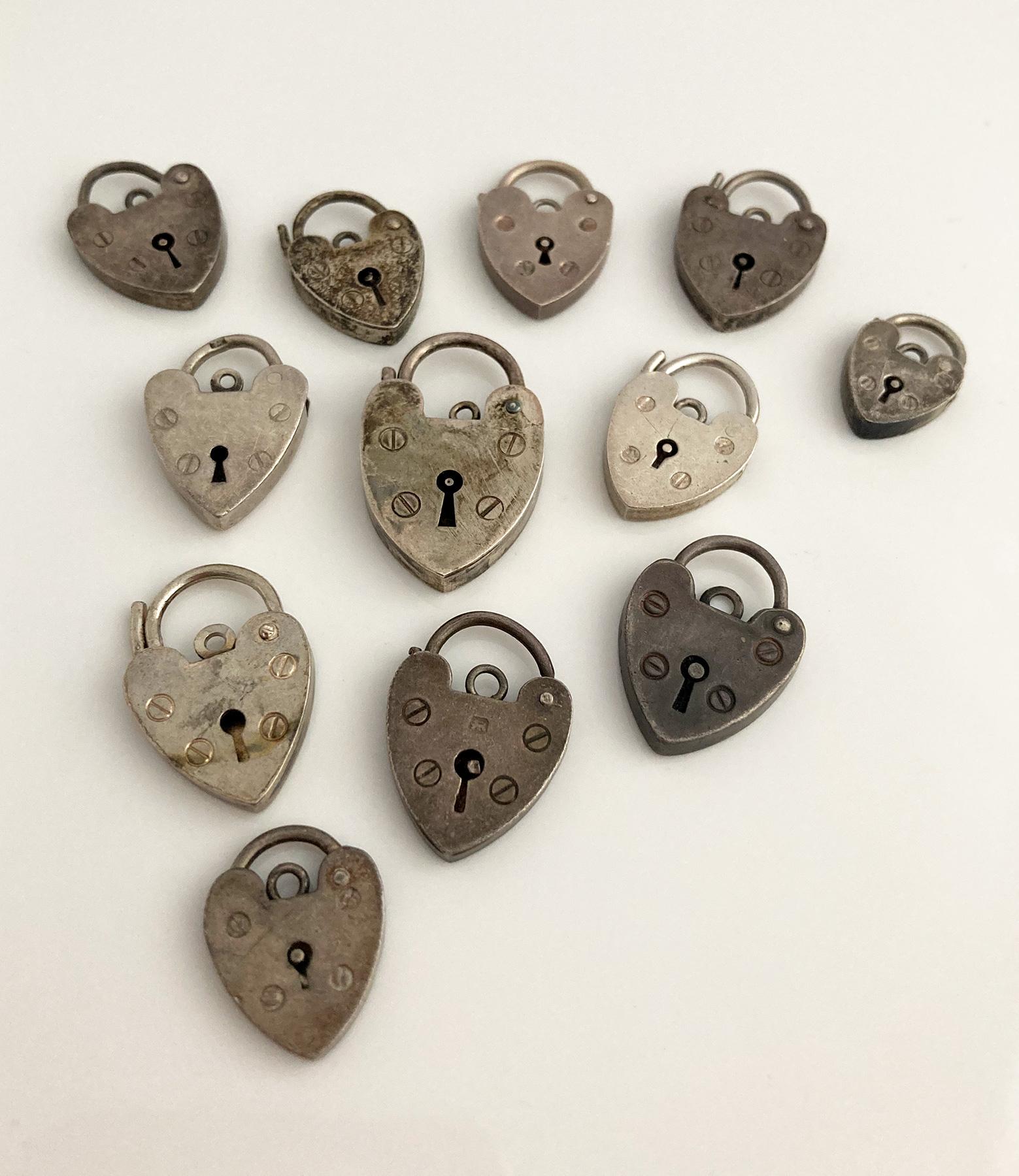 vintage zilveren hart sluitingen